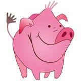 滑稽的猪 库存例证