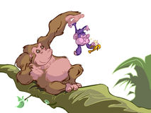 滑稽的猴子 向量例证