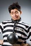 滑稽的监狱囚犯 免版税库存图片