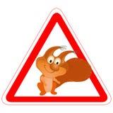 滑稽的符号灰鼠警告 向量例证