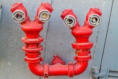 滑稽的红色消防栓 库存图片