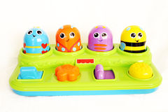 滑稽的臭虫婴孩玩具 免版税库存图片