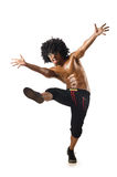 滑稽的舞蹈演员查出 免版税库存照片