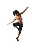 滑稽的舞蹈演员查出 免版税库存图片