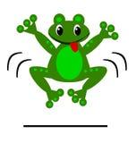滑稽的跳跃的青蛙-数字式艺术 库存图片