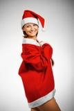 滑稽的辅助工s圣诞老人 库存照片