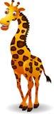 滑稽的长颈鹿动画片 图库摄影