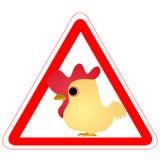 滑稽的雄鸡符号警告 库存例证