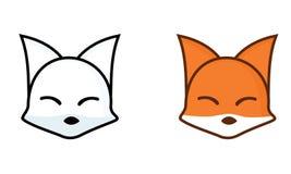 滑稽的顶头狐狸动画片 免版税库存照片