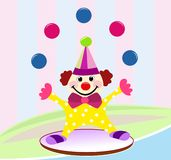 滑稽的马戏团小丑 库存图片