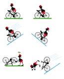 滑稽的骑自行车的人 库存照片