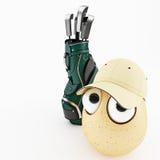 滑稽的鸡蛋作为动画片3d 库存图片