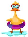 滑稽的鸭子 向量例证