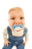 滑稽的婴孩 免版税库存照片