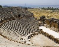 滑稽的hierapolis剧院 库存照片