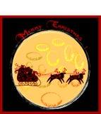 滑稽看板卡的圣诞节 库存图片