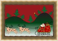滑稽看板卡的圣诞节 免版税库存图片