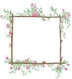 滑稽花卉的框架 皇族释放例证