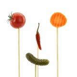 滑稽表面的食物 免版税库存图片