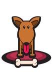 滑稽骨头的狗 免版税库存照片
