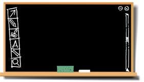 滑稽黑板的desctop 免版税库存照片