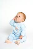 滑稽婴孩的表达式 图库摄影