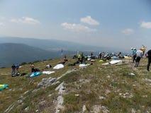 滑翔伞越野竞争 图库摄影
