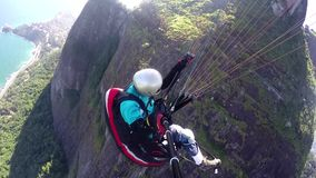 滑翔伞飞行员,物理被妨碍 影视素材