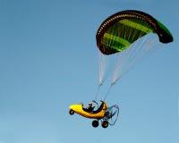 滑翔伞黄色 库存图片