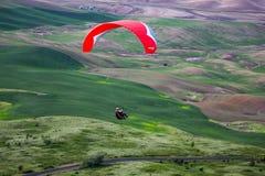 滑翔伞Palouse,华盛顿 库存图片