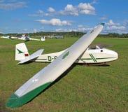 滑翔机有历史的培训 免版税库存照片