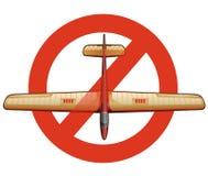 滑翔机的禁止 库存例证