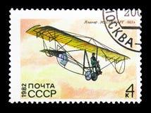 滑翔机Mastyazhart, S v ilyushin 1923年,苏维埃Gl的历史 库存照片