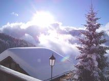 滑雪假日 库存图片
