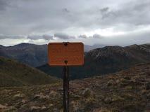 滑雪区域界限 库存图片