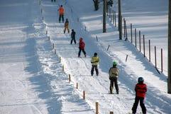 滑雪吊车 免版税图库摄影