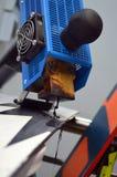 滑雪和雪板修理  库存照片