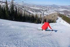 滑雪在亚斯本,科罗拉多 库存照片