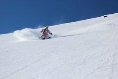 滑雪场地外的滑雪 图库摄影