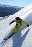 滑雪场地外的滑雪 免版税图库摄影