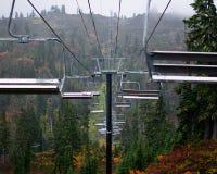 滑雪场夏令时 库存图片