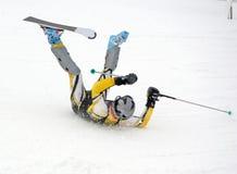 滑雪失败 免版税库存图片
