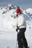 滑雪妇女 库存图片