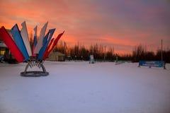 滑雪季节的开头 库存照片