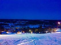 滑雪小山 库存照片
