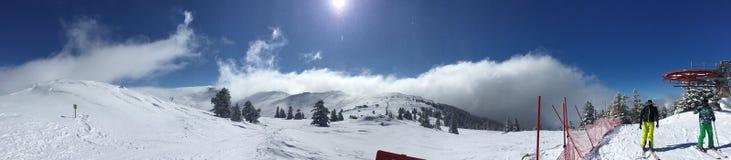 滑雪山顶在Uludag 免版税图库摄影
