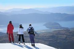 滑雪新西兰 免版税库存照片