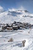滑雪村庄 免版税图库摄影