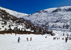 滑雪活动 库存照片