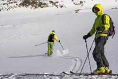 滑雪游人。 免版税库存图片